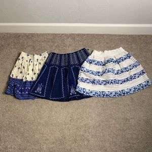 Lot of 3 blue mini skirts